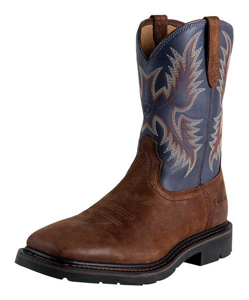 Brown Sierra Wide Square Toe Boot - Men by Ariat