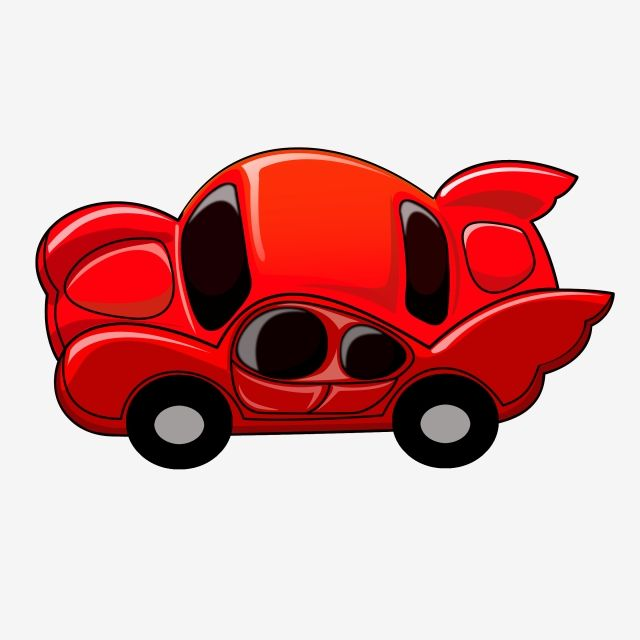 Cute Red Car Chibi Cartoon Car Png Transparent Clipart Image