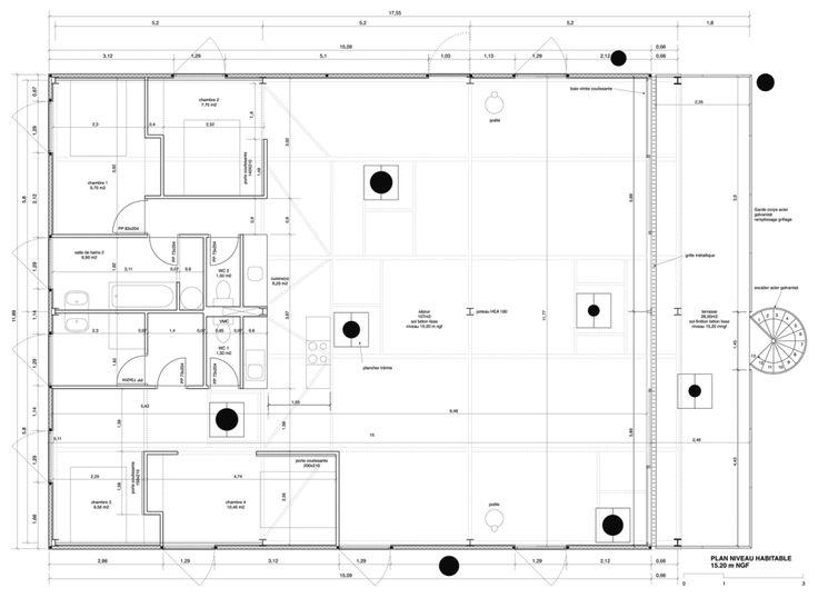 222 best images about square plans on pinterest villas le corbusier and ho - Maison starck cap ferret ...