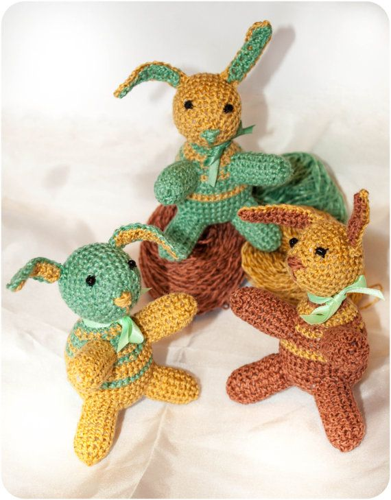 Amigurumi Stripey Crochet Bunny Rabbit Pattern by EstherMouse, £1.50