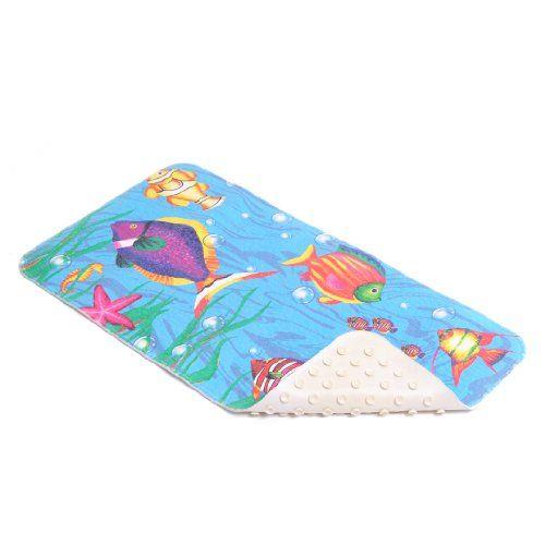 "Amazon.com - Con-Tact Brand Printed Rubber Bath Mat, Sea Fishes, 30"" x 16"" - Bathmats"