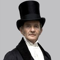 """MR. MERDLE by Anton Lesser: """"Merdle is a banker, with the friendships and influences that come with having money: he's lauded by peers and politicians, movers and shakers…but it's a very hollow life, and one that, ultimately, ends in disaster. What's going on with Merdle is the price of success. It's incredibly topical right now."""" (Enchanted Serenity Period Films Blogspot)"""