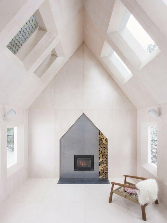 Holz Aussicht oben Dachfenster Stuhl geräumiges Ferienhaus