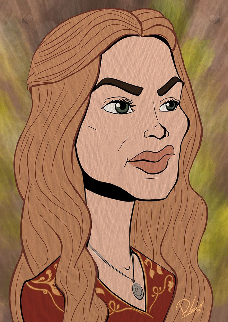 Lena Headey as Cersei Lannister in #gameofthrones - caricature by Ribosio