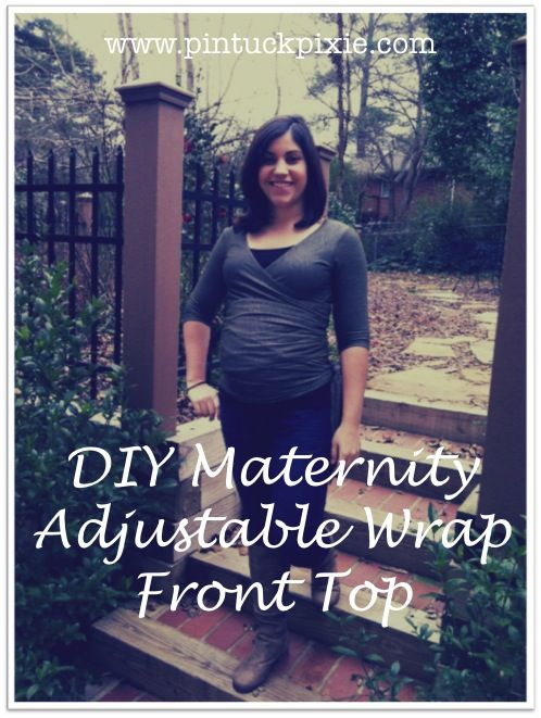 Pintuck Pixie: Made :: Megan Nielsen Wrapped Maternity Top