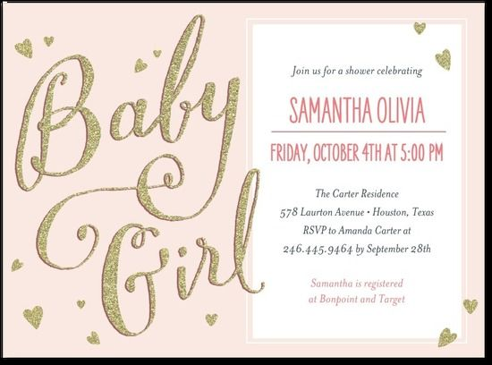 Awesome Little Shine: Chenille   Baby Shower Invitations In Chenille