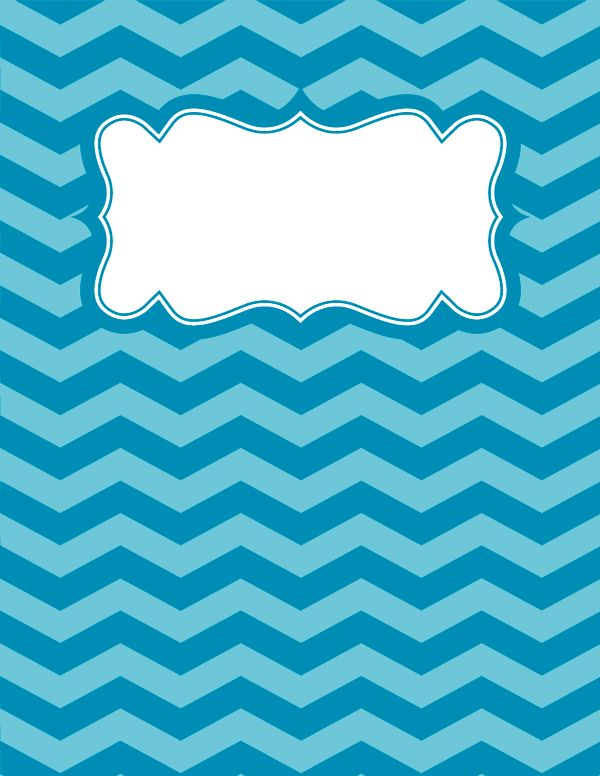 Free printable blue chevron binder cover template. Download the cover in JPG or PDF format at http://bindercovers.net/download/blue-chevron-binder-cover/