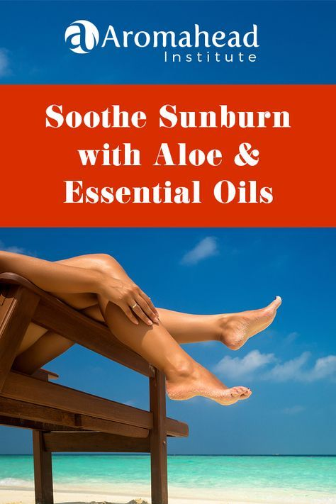 Escaping the cold of winter? Travel prepared to naturally soothe a sunburn with aloe! This recipe offers such relief for sunburned skin. Here's how to naturally soothe sunburn with aloe