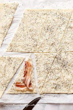 Come fare i Croissant salati 1 - Ricetta Croissant salati