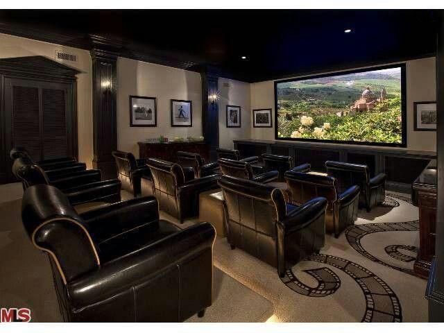 theater room cool home ideas pinterest. Black Bedroom Furniture Sets. Home Design Ideas