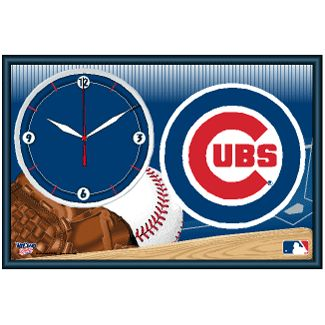 Chicgo Cubs framed clock