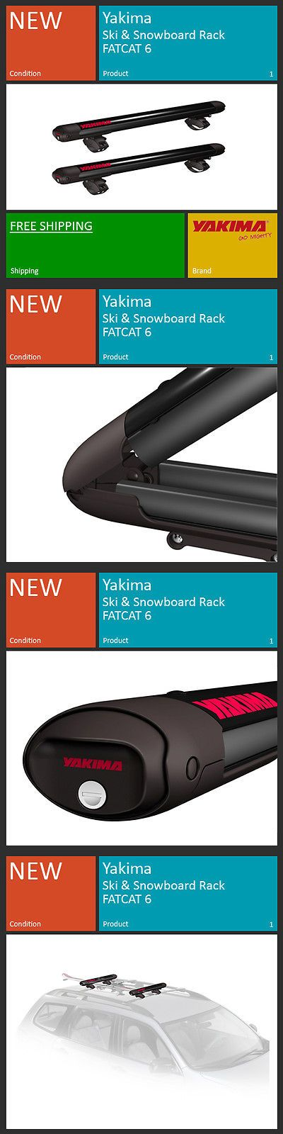Racks and Carriers 21231: Yakima Ski Snowboard Roof Rack Carriers - Fatcat 6 BUY IT NOW ONLY: $249.0