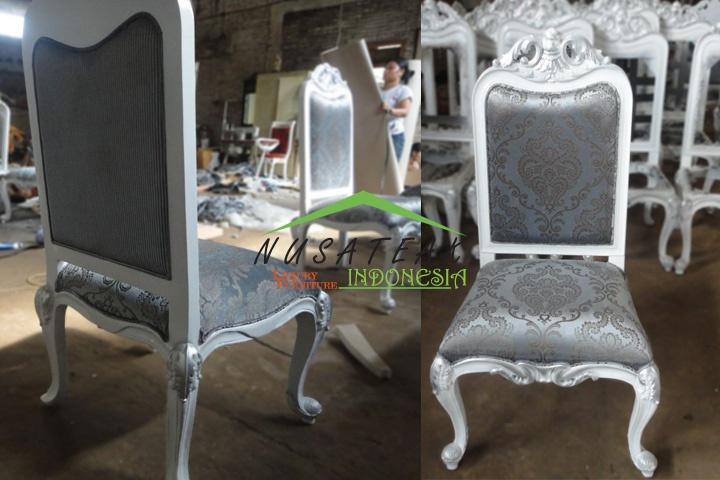 Abimanyu Baroque Dining Chair - Luxury Home Furniture Indonesia - Nusa Teak