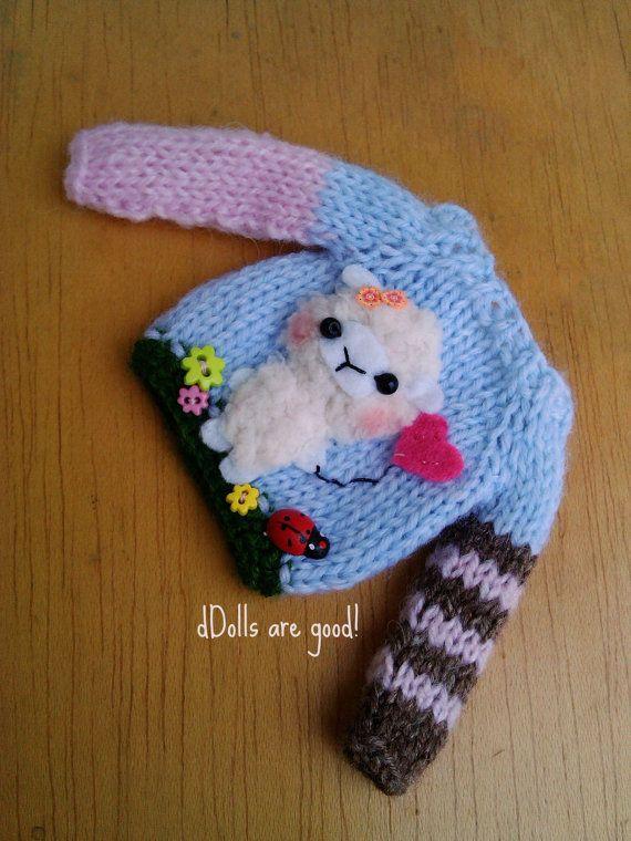 Sheep lamb special sweater jumper for Blythe Pullips por Mitilene