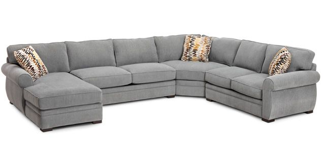 Sofa Mart Ryan 4 Pc Sectional Can Customize Fabric And Layout 2 Loveseats And A Center
