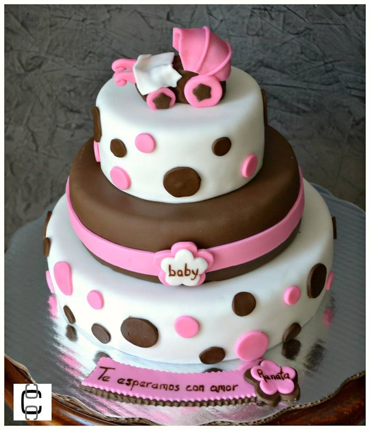Girl Baby Shower Party Ideas / Girl Baby Shower Cake Ideas / Baby Carriage  Cake / Pastel De Baby Shower De Niña / Baby Shower Niña / Pastel De Baby  Shower ...