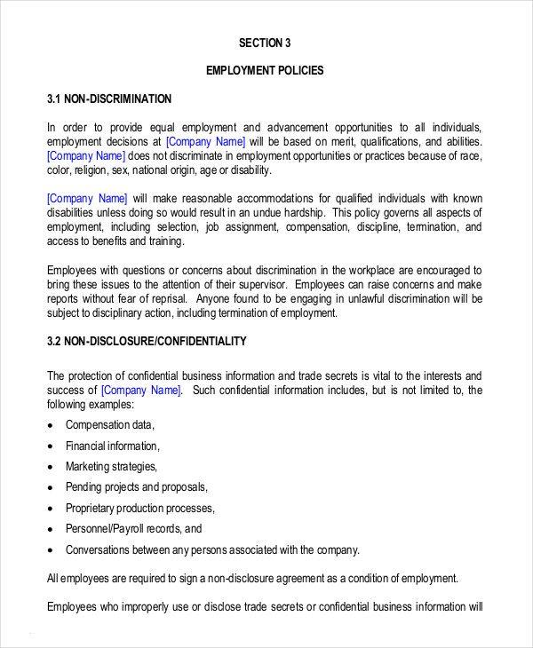 Employee Handbook Template Check More At Https Cleverhippo Org Employee Handbook Template