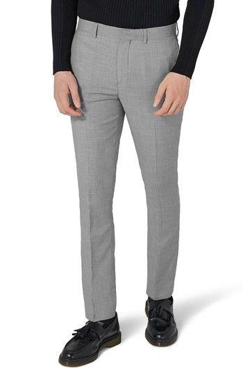 TOPMAN COMO SKINNY FIT GREY SUIT PANTS. #topman #cloth #