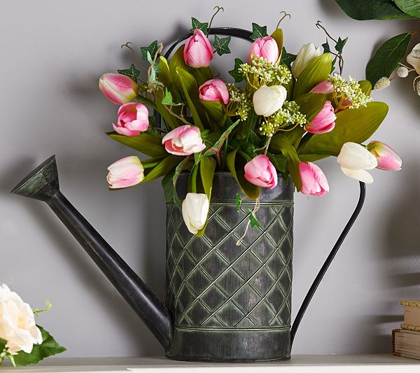 Bring a bit of spring into your home with this amazing arrangement by Valerie Parr Hill. QVC.com