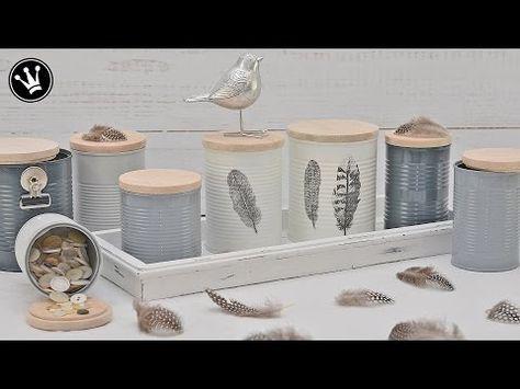 DIY - Nostalgische Dekogläser im Shabby Chic Stil / Transfertechnik Decalfolie / Upcyclingidee - YouTube