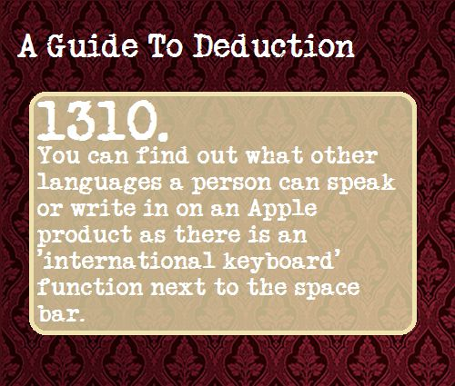 A Guide to Deduction | Tumblr