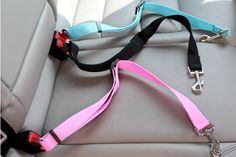 Our Car Seat Safety Belt is perfect for the dog owner who runs errands with their pup! Getting out or in to the car is always a spectacleif you have an excited