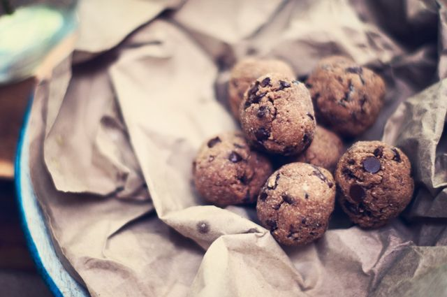 Coconut Chocolate Chip Protein Cookie Balls 1-2