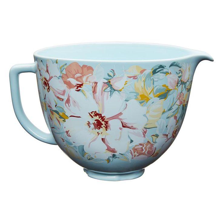 white kitchenaid mixing bowl set