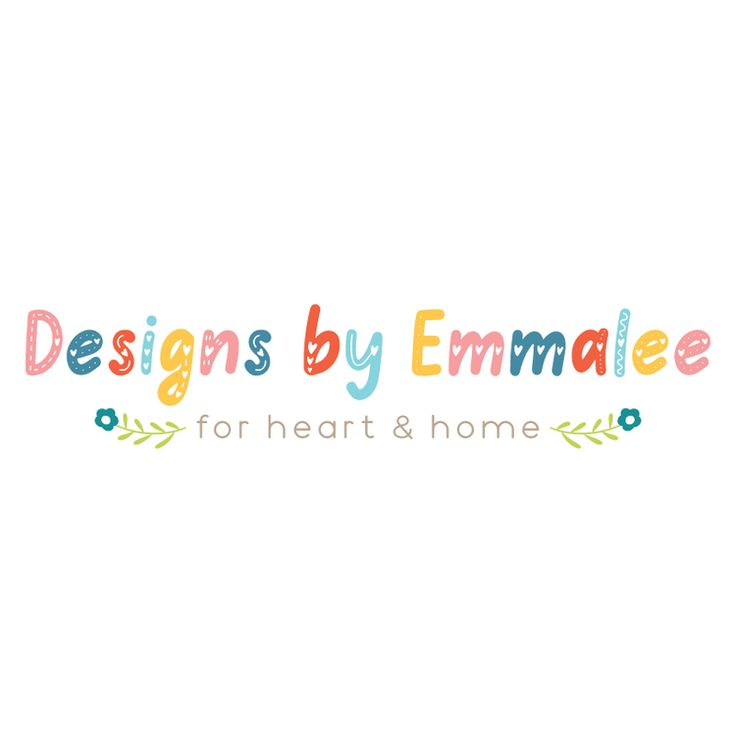 Colorful Text & Flowers Premade Logo Design - Customized with Your Business Name!
