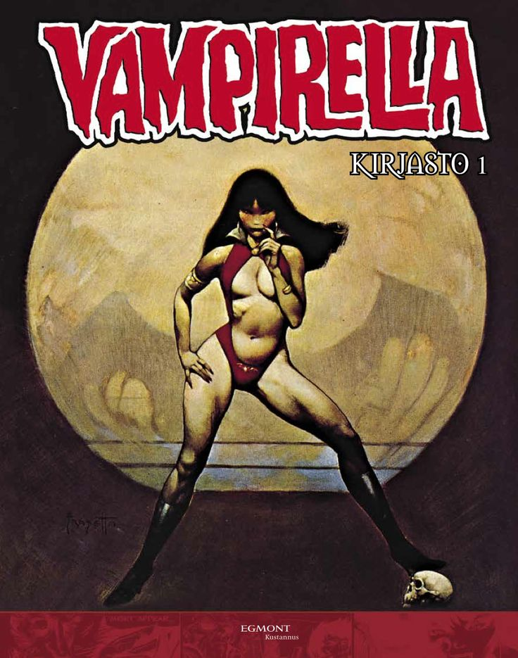 #Vampirella #egmontkustannus #kauhu #vampyyrit #klassikko #psykedelia #huumori #FrankFrazetta