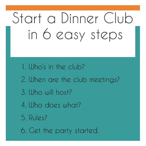 How to start a dinner club, what a cool idea!
