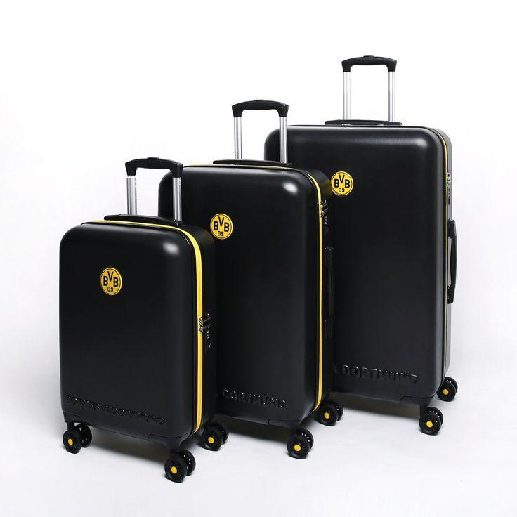 Fußball-Bundesliga Gepäck und Reise-Zubehör *Borussia Dortmund* 4-Rollen Trolley Koffer-Set S/M/L