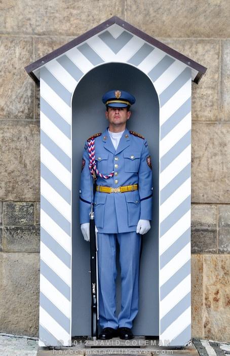Guard at Prague Castle, Prague, Czech Republic