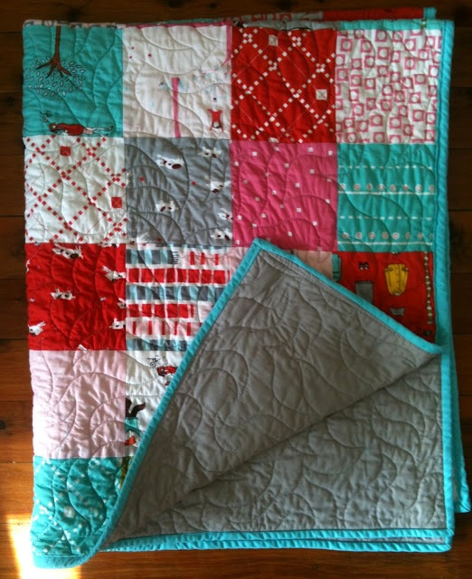 my first charm square quilt