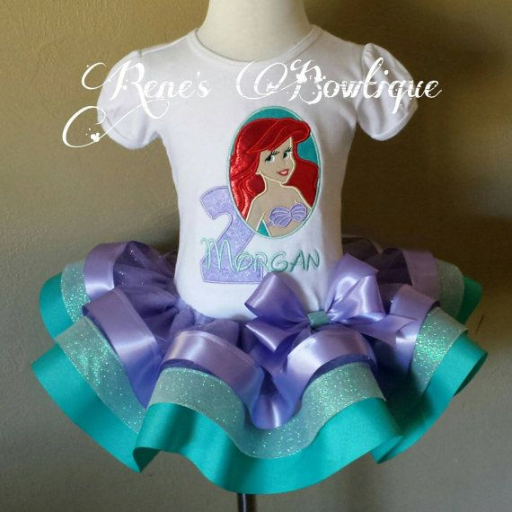Little Mermaid tutú conjunto por RenesBowtique en Etsy