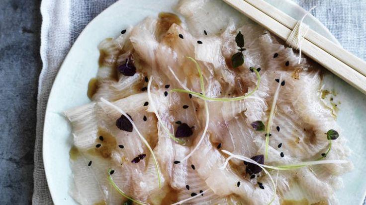 Sashimi of hiramasa kingfish with modern sashimi dressing