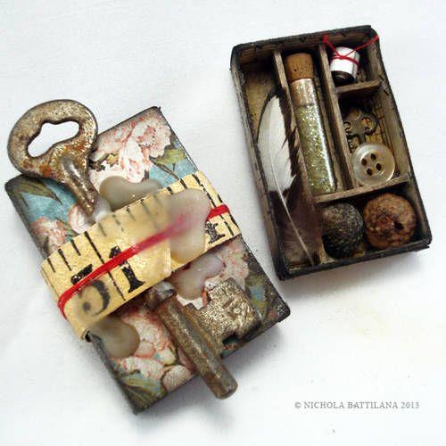 Lovers Memento Matchbox Shrines - PAPER CRAFTS, SCRAPBOOKING & ATCs (ARTIST TRADING CARDS)