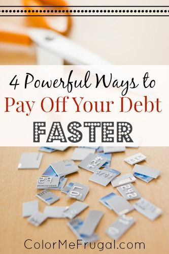 So many of us are working hard to pay off debt from credit cards, student loans, mortgages, etc. If this is you, you'll definitely want to check out these 4 powerful ways to pay off your debt faster!