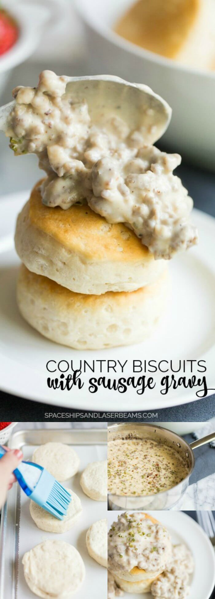 Country Biscuits with Sausage Gravy