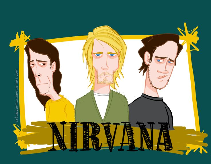 fan art Nirvana ilustración digital.