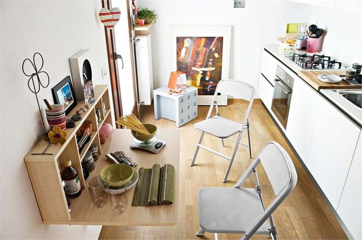 Wall Mounted Table   Save a Lot of Places in Your Apartment