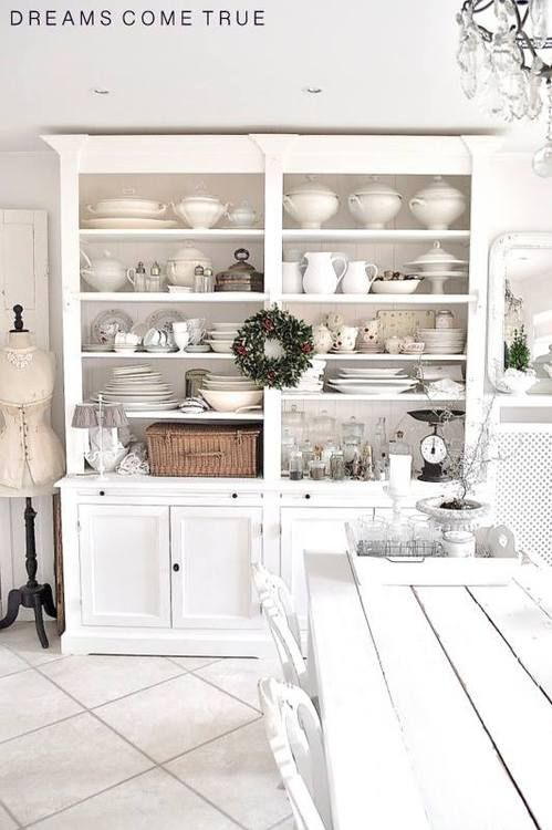 Les 25 meilleures id es de la cat gorie vaisselier blanc - Meuble vaisselier cuisine ...
