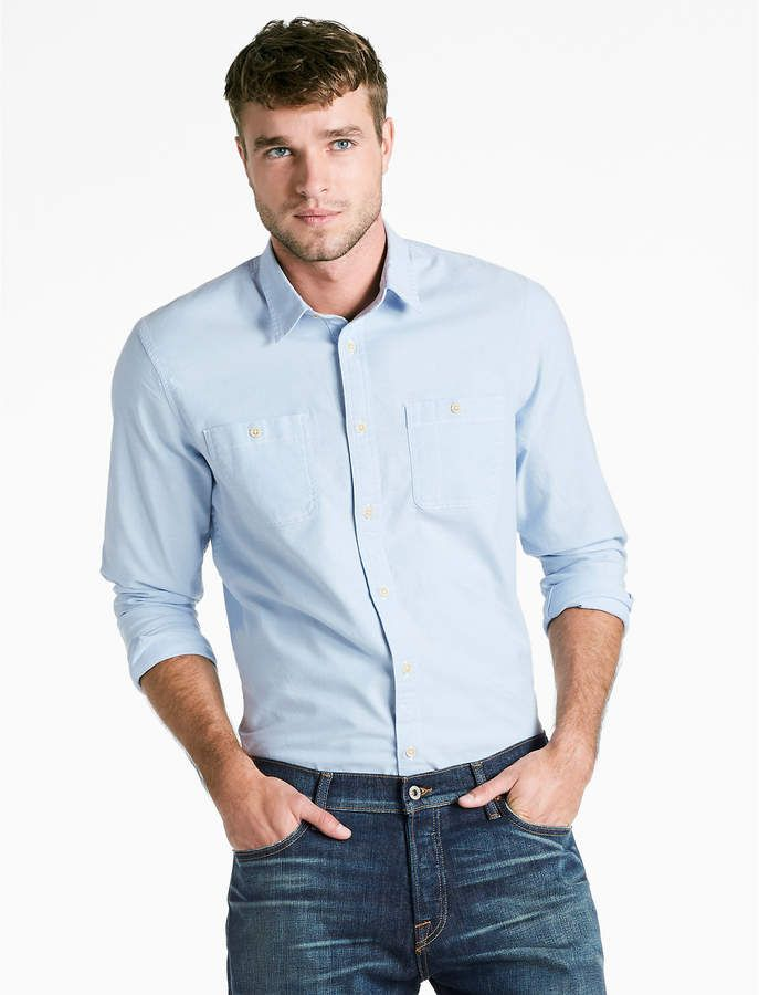 Because every day should feel like Saturday! Saturday Stretch Militrary Oxford Shirt #menswear #mensstyle #summer
