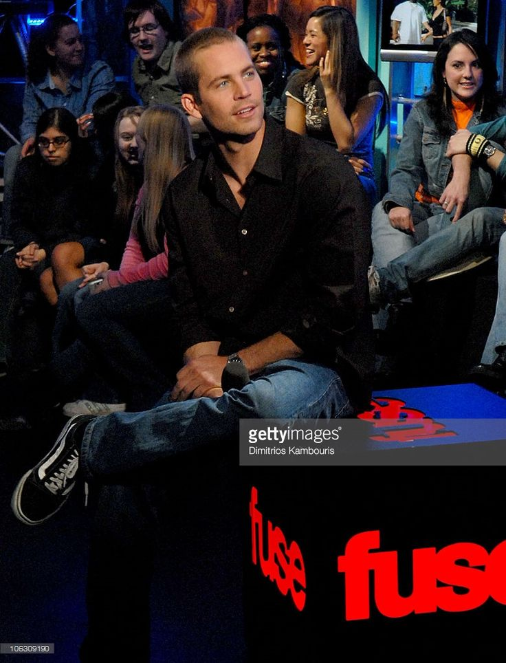 Paul Walker during Paul Walker Visits Fuse's 'Daily Download' - February 16, 2006 at Fuse Studios in New York City, New York, United States.