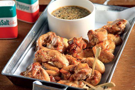 Μπουκιές κοτόπουλου με γλυκόξινη σάλτσα