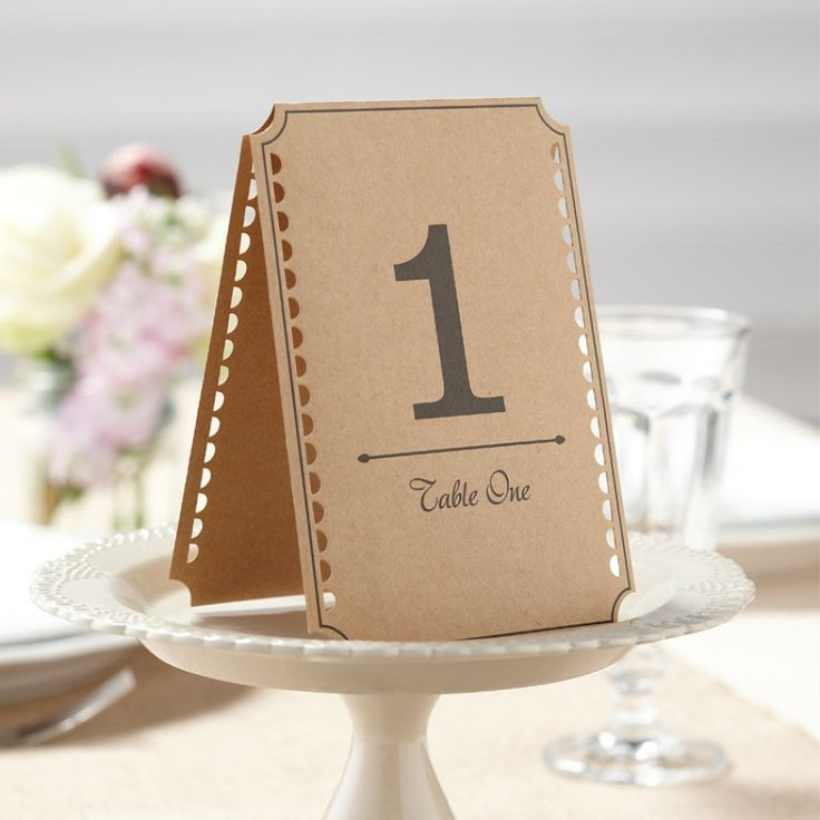 Vintage Affair Table Numbers
