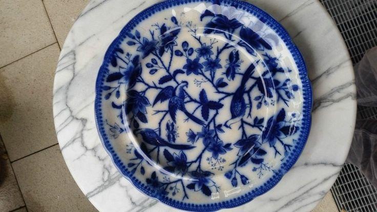 Villeroy & Boch Fasan um 1870 Dunkelblau große Kuchenplatte in Antiquitäten & Kunst, Porzellan & Keramik, Keramik   eBay!