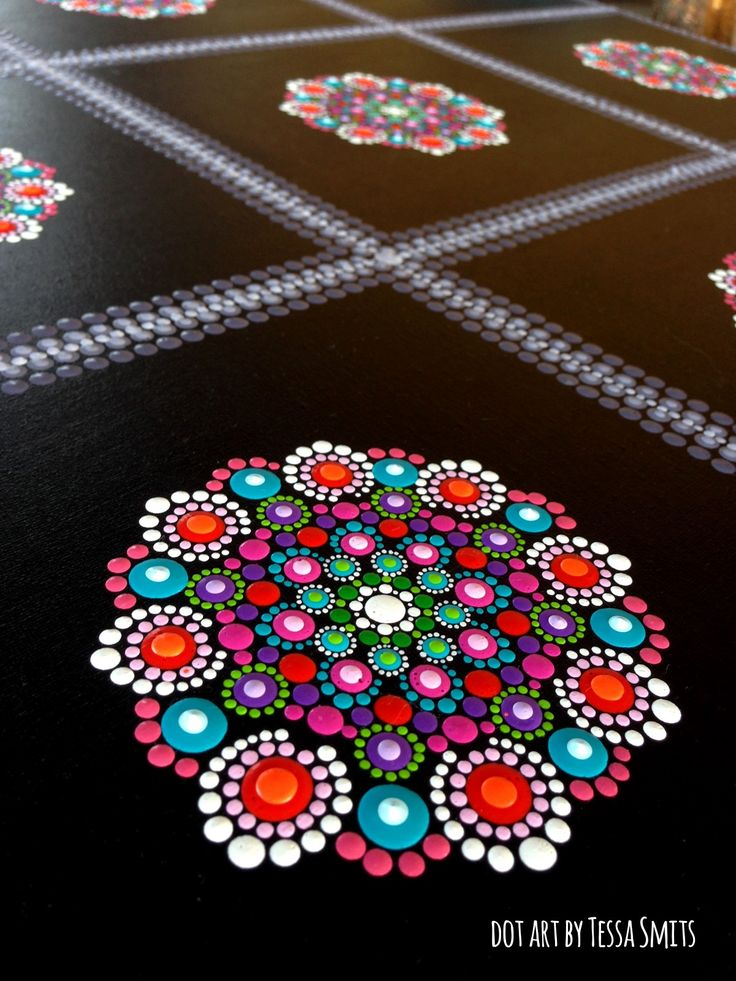 dot art schilderij FLOWERS Tessa Smits - detail2