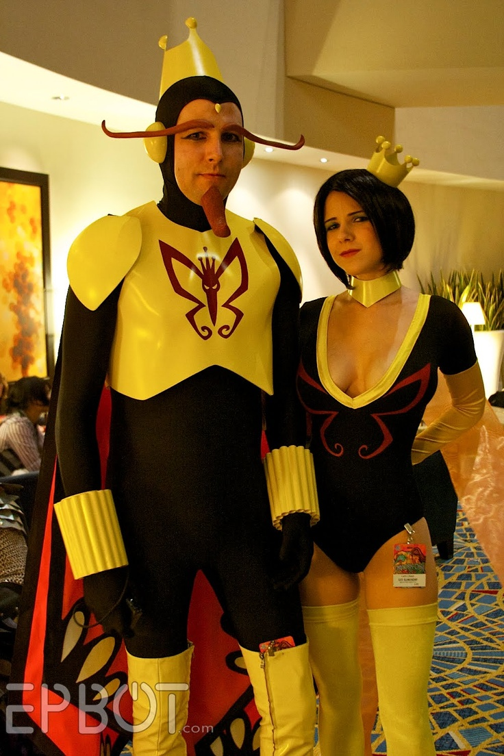 Seriously, best couples costume ever!!! (The Monarchs from Venture Brothers)