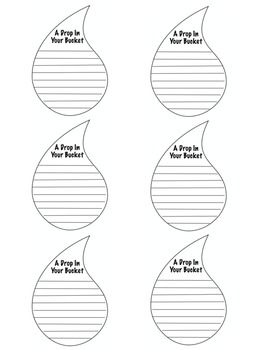 Free:  Bucket Filler item..How Full Is Your Bucket? - Bucket Drops
